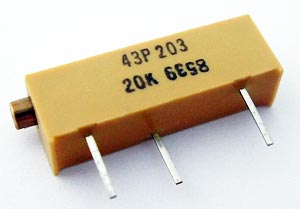20K ohm Cermet Trimpot Potentiometer Spectrol 43P203