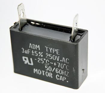3uF 250VAC Motor Capacitor Polyester Film ADM250A305J