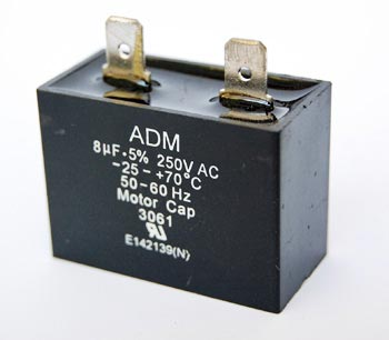 8uF 250VAC Motor Capacitor Polyester Film ADM250E805J