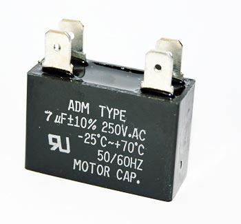 7uF 250VAC Motor Run Capacitor ADM250F705K
