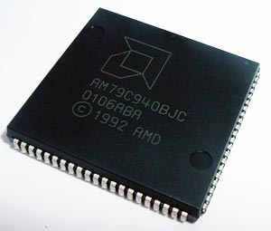 AM79C940BJC Ethernet Media Access Controller IC AMD