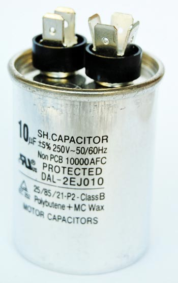 10uF 250VAC Motor Run Capacitor DAL-2EJ010