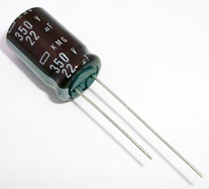 22uF 350V Radial Electrolytic Capacitor United Chemi Con KMG350VB22RM12X20LL