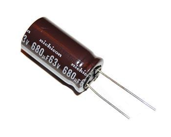 680uF 63V Radial Electrolytic Capacitor Nichicon UPL1J681MHH