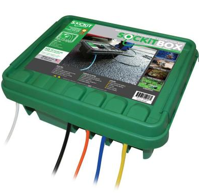 Green Sockit Box Large Weatherproof Electrical Connection ...