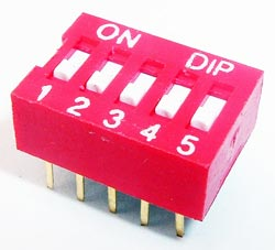 5 Position DIP Switch Grayhill
