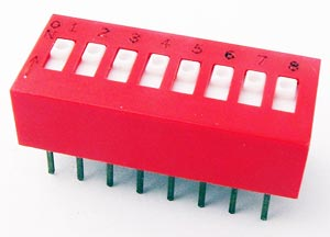 8 Position DIP Switch Through-Hole Grayhill 78RB08S