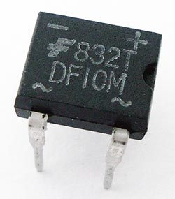 1.5A 1000V 4 Pin Dip Bridge Rectifier DF10M