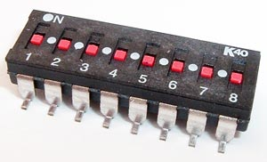 8 Position DIP Switch Surface Mount Alco K40