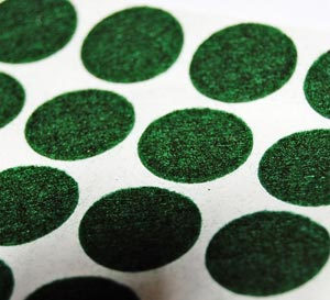 Green Round Self Adhesive Felt Feet Pads 3/4 in