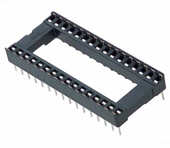 32 Pin IC Socket Open Frame Diplomate Amp 2-644018-4