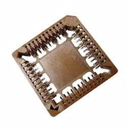 44 Pin Surface Mount SMT PLCC IC Socket Burndy