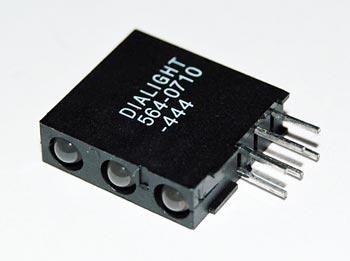 Yellow Green 3mm LED Tri Level CBI Indicator Dialight 564-0710-444