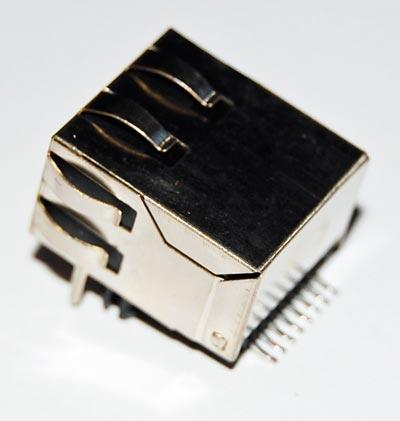 Modular Jack Connector 8P8C Maxconn MJLS-S-88-GF5-30