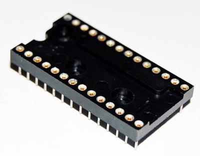 28 Pin Machined IC Socket Wide Body Augat