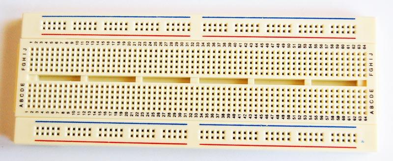 Solderless Breadboard 640 Tie Points 6.9 in x 2.6 in.