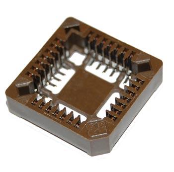 28 Pin PLCC IC Socket Surface Mount Burndy
