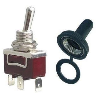Toggle Switch Cover >> Toggle Switch 15a 250 Vac Waterproof Boot Cover On On