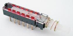 Push Button Switch Multipole 4PDT | West Florida Components