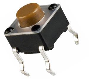 Tactile Switch SPST 12V 6mm E-Switch TL1105AF100Q