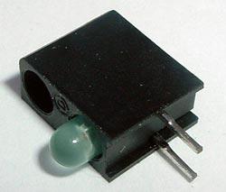Dual Bar LED 1 Green 1 Blank Dialight 553-0202