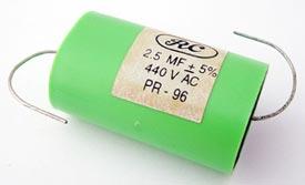 2.5uF 440Vac Axial Film NOS Capacitor
