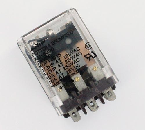 10A 24V 3PDT Power Relay Potter Brumfield KUP14D15-24