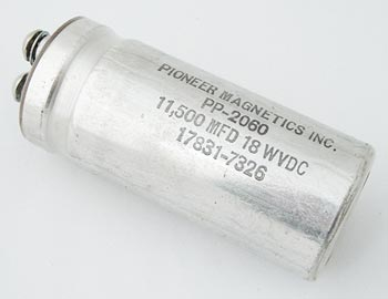 11500uF 18V Computer Grade Capacitor Pioneer Magnetics PP-2060