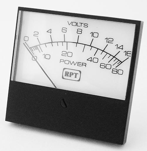 0-16V Analog Panel Meter - USA Made - RPT