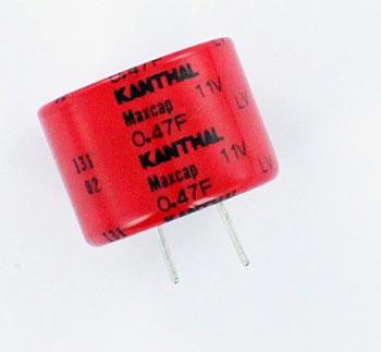 5 pcs CAPs 0,47F Memory Backup Capacitors Kanthal 5.5V