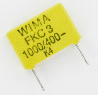 0.001uF 400V Polycarbonate Film Box Capacitor FKC3 WIMA