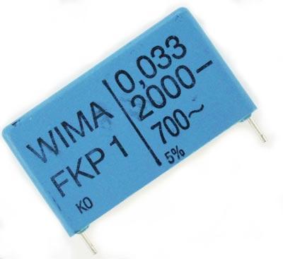 0.033uF 2000V Polypropylene Box Capacitor FKP1 WIMA