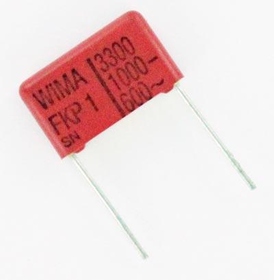 3300pF 1000V 1KV Metallized Polypropylene Capacitor FKP1 WIMA