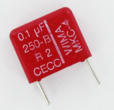 0.1uF 250V Metallized Polycarbonate Box Capacitors MKC4 WIMA