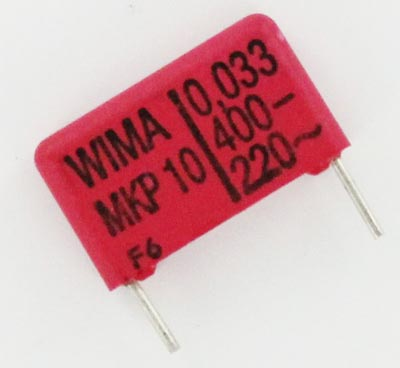 0.033uF 400V Polypropylene Pulse Box Capacitor MKP10 WIMA