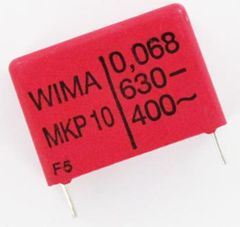 0.068uF 630V Metallized Polypropylene Box Capacitors MKP10 WIMA