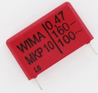 0.47uF 160V Metallized Polypropylene Film Box Capacitor MKP10 WIMA
