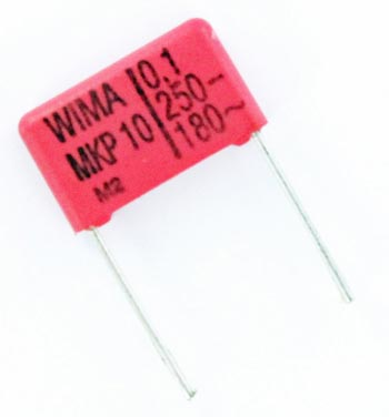 0.1uF 250V Metallized Polypropylene Box Capacitor MKP10 WIMA