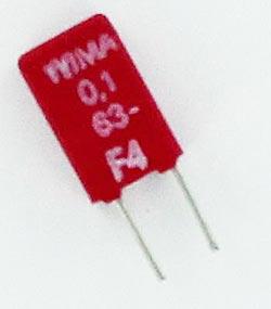 0.1uF 63V Metallized Polyester Film Capacitor MKS0C031000C00K WIMA