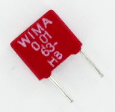 0.01uF 63V Polyester Box Capacitor MKS2C021001A00J WIMA