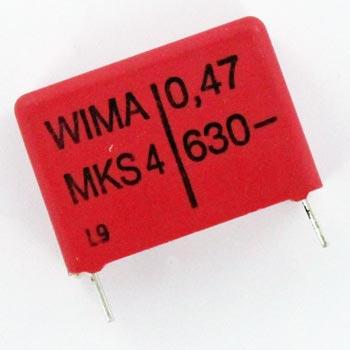 0.47uF 630V Radial Polyester Film Box Capacitor MKS4/0.47/630/10 WIMA