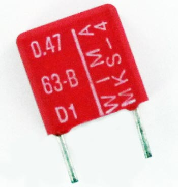 0.47uF 63V Metallized Polyester Box Capacitor MKS4/0.47/63/10 WIMA