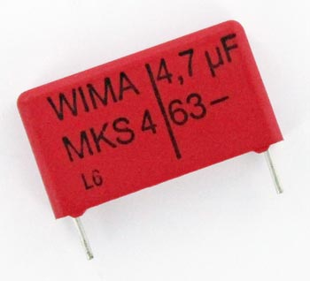 4.7uF 63V Metallized Polyester Film Capacitor MKS4C044704 WIMA