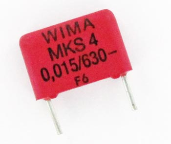 0.015uF 630V Metallized Polyester PET Capacitor MKS4J021503 WIMA