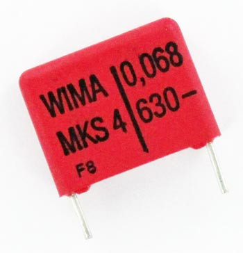 0.068uF 630V Polyester Film Box Capacitors MKS4J026803 WIMA