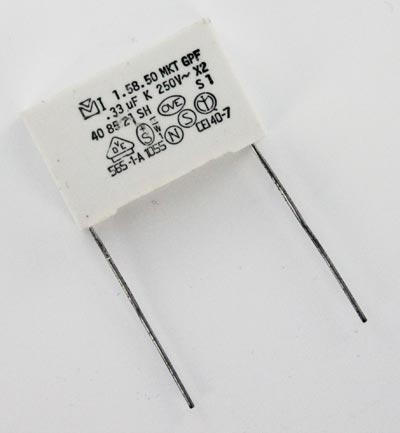 0.33uF 250VAC X2 MKT Safety Suppression Capacitor  1.58.50 MKT GPF Mallory