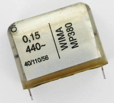 0.15uF 440VAC Metallized Paper Capacitor MP380 WIMA