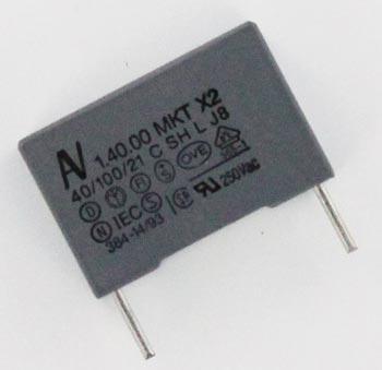 0.1uF 275VAC Polyester Film Suppression Capacitor Arcotronics R40.KI.3100.2000.01.M