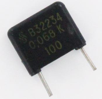 0.068uF 100V Radial Film Capacitor B32234 Siemens