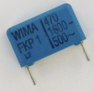470pF 1600V Polypropylene Film Capacitor FKP1 WIMA